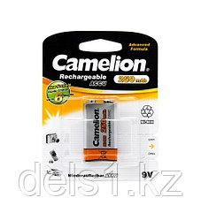 Аккумулятор, CAMELION, NH-9V250BP1, Rechargeable, Lockbox Rechargeable, 6F22(крона), 9V, 250 mAh, 1 шт., Блист