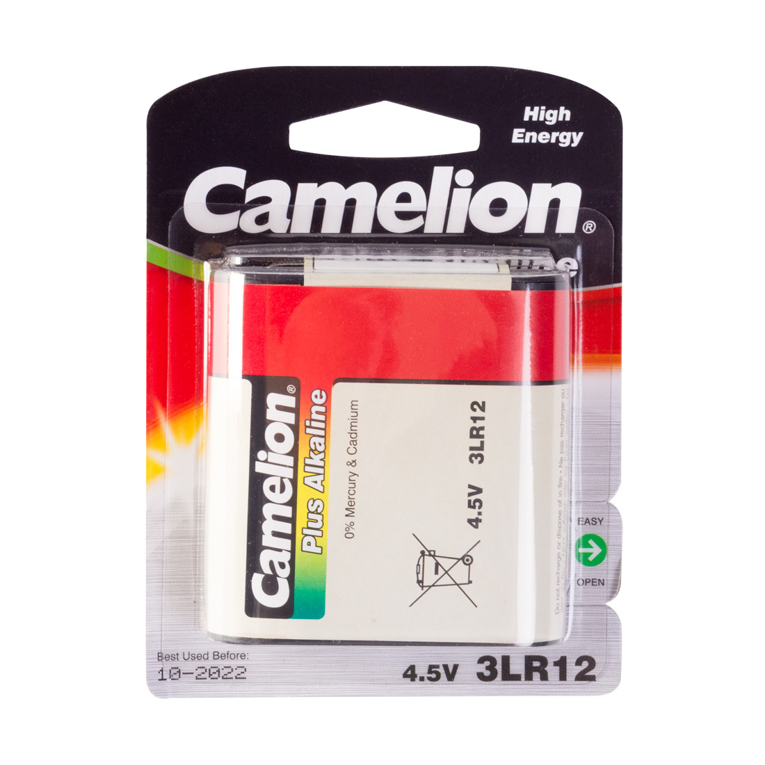 Батарейка, CAMELION, 3LR12-BP1, Plus Alkaline, 3LR12, 4.5V, 1 шт., Блистер