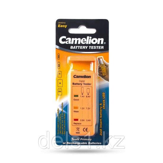 Тестер заряда батарей, CAMELION, BT-0503, Тестер уровня заряда батарей, AA/AAA/C/D/9V/таблетки, Блистер