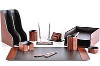 Premium набор FG Toscana Tan/шоколад из 12 предметов. Ручное изготовление руками мастеров BUVARDO