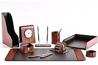 Premium набор FG Toscana Tan/шоколад из 10 предметов. Ручное изготовление руками мастеров BUVARDO