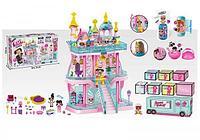 Большой замок LOL ( лол) 3 этажный с мебелью+ кукла лол шар +  2 куклы лол в капсуле (КАЧЕСТВЕННЫЙ АНАЛОГ), фото 1