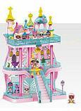 Большой замок LOL ( лол) 3 этажный с мебелью+ кукла лол шар +  2 куклы лол в капсуле (КАЧЕСТВЕННЫЙ АНАЛОГ), фото 2