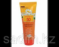 Солнцезащитный крем для лица - Leiya snail perfect sun cream