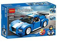 Конструктор DECOOL 3119 Гоночный автомобиль 3-в-1, аналог Lego Креатор 31070