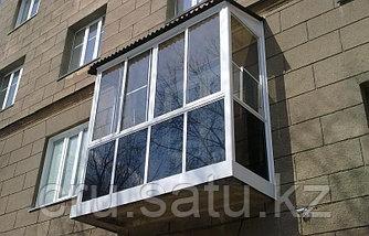 Остекление балконов и лоджий в Караганде