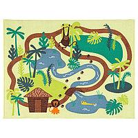 Ковер детский ДЬЮНГЕЛЬСКОГ короткий ворс, джунгли ИКЕА, IKEA, фото 1