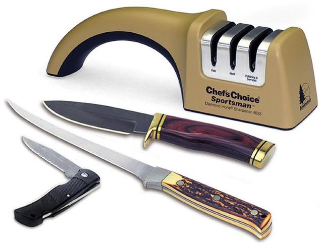"""""""Chef'sChoice 4635"""" подходит для заточки большого числа ножей — в частности: европейских, азиатских, серрейторных"""