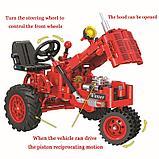 Конструктор Winner 7070 Technic 302 детали классический старый трактор аналог Lego Technic, фото 2