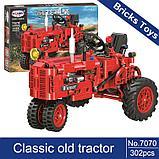 Конструктор Winner 7070 Technic 302 детали классический старый трактор аналог Lego Technic, фото 5