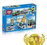 Конструктор LEPIN City 02027 Внедорожник с прицепом для катамарана 212 деталей аналог Lego 60149, фото 2