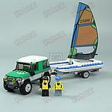 Конструктор LEPIN City 02027 Внедорожник с прицепом для катамарана 212 деталей аналог Lego 60149, фото 7