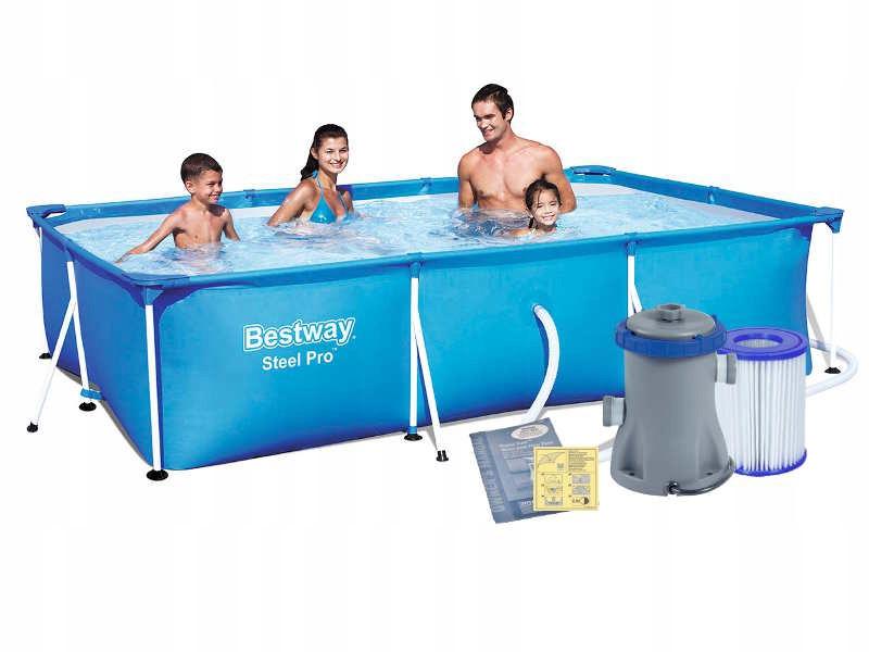 Каркасный бассейн Bestway 56411 (300x201x66) с картриджным фильтром