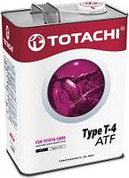 Трансмиссионная жидкость TOTACHI ATF TYPE T-4 4литра