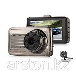 Автомобильный видео регистратор T666 с камерой заднего вида