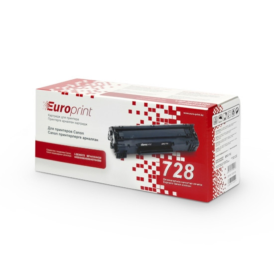 Картридж, Europrint, EPC-728, Для принтеров Canon i-SENSYS MF4410/4420/4430/4450/4550/4570/ 4580/4870, 2100 ст