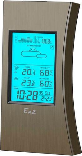 Базовый модуль метеостанции отличается необычным стильным дизайном (увеличение по клику)