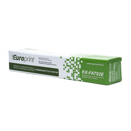 Тонер-картридж, Europrint, KX-FAT92E, Для принтеров Panasonic KX-MB262/263/772/773/783/788, 2000 страниц.