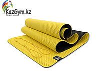 Мат для йоги 6 мм двухслойный перфорированный желтый (FT-YGM6-3DT-YELLOW)