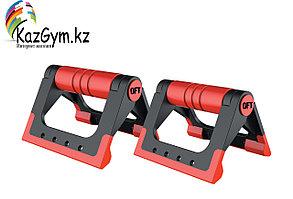Упоры для отжиманий складные (черно-красные) FT-PUB-RD