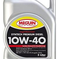 Моторное масло Meguin SYNTECH PREMIUM DIESEL SAE 10W-40 5литров