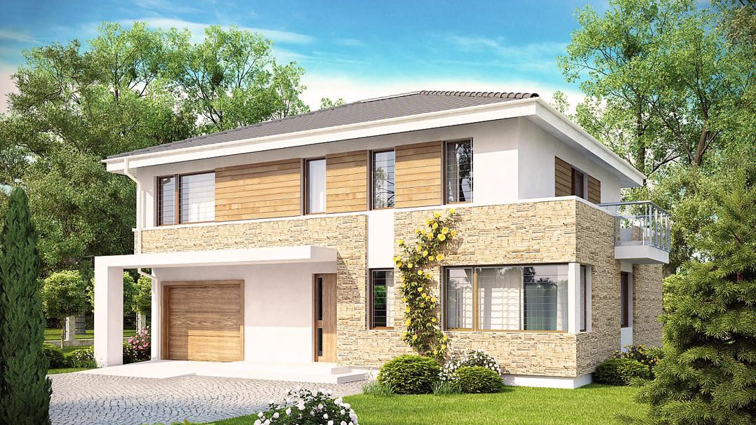 Строительство дома «под ключ» по проекту «Актеон»