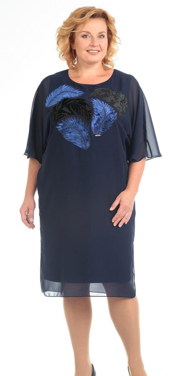Платье Pretty-592, темно-синий, 52