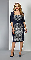 Платье EOLA-1385, темно-синий, 44