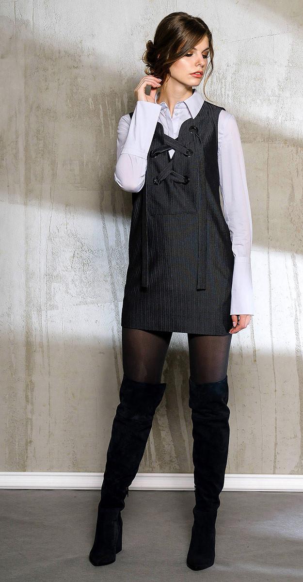 Платье Anna Majewska-1041/1, черный, 42
