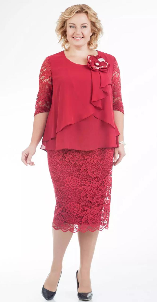 Платье Pretty-587/2, красный, 56