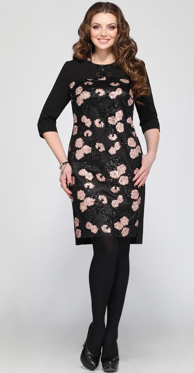 Платье Matini-31021, черные тона, 52