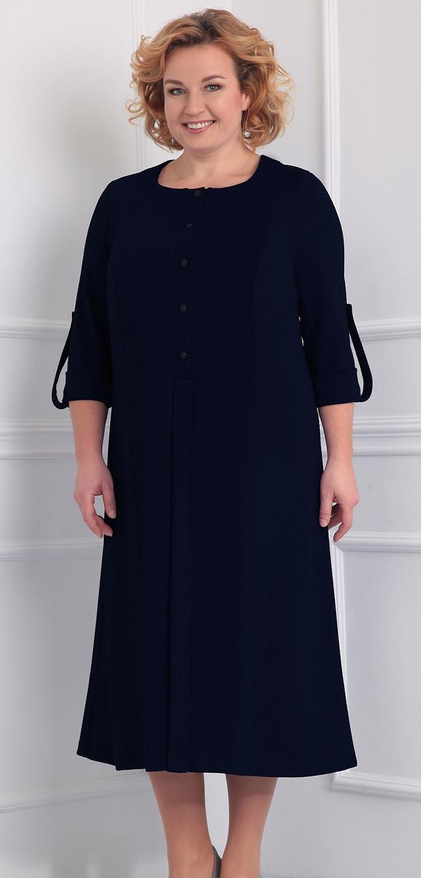 Платье Novella Sharm-2860-1, темно-синий, 62