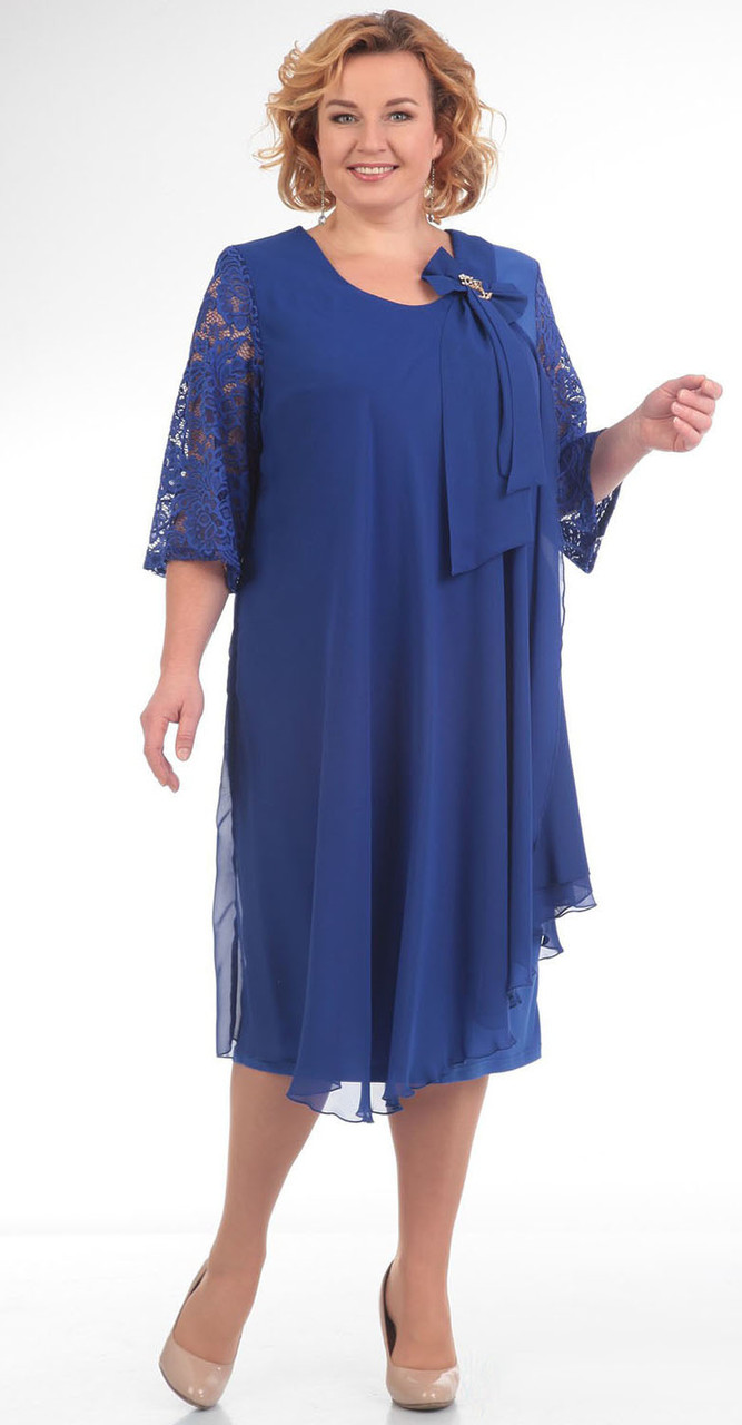 Платье Pretty-254/2, василек, 56
