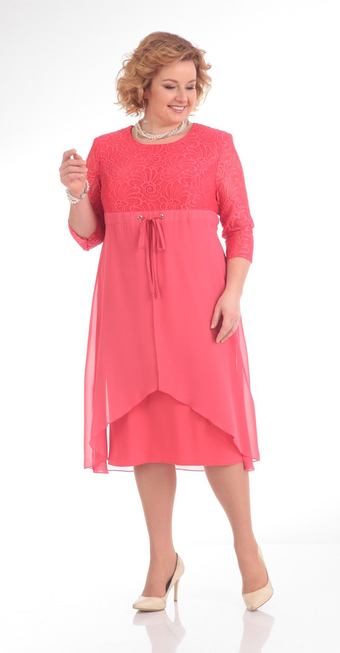 Платье Pretty-645, розовые тона, 56