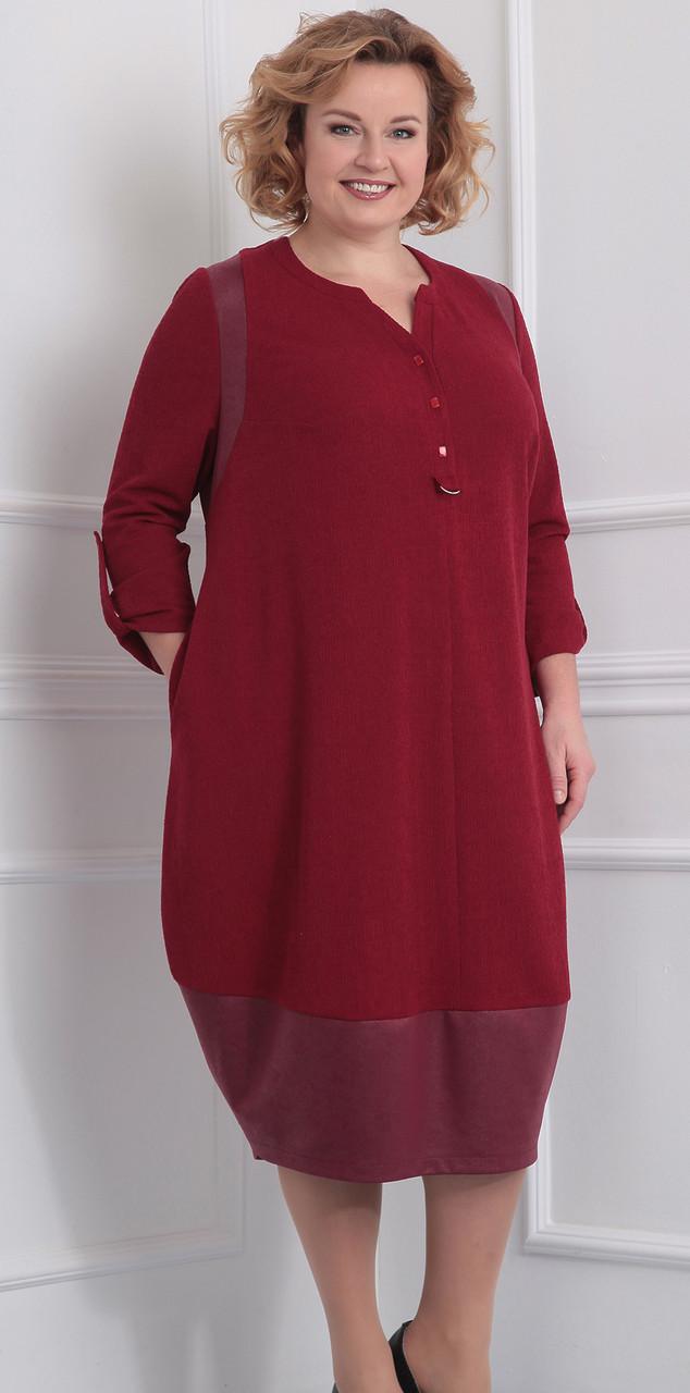 Платье Novella Sharm-2917, бордо, 60