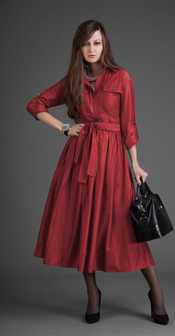 Платье ElPaiz-099/4, бордо, 42