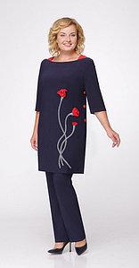 Костюм Svetlana Style-968, темно-синий, 50