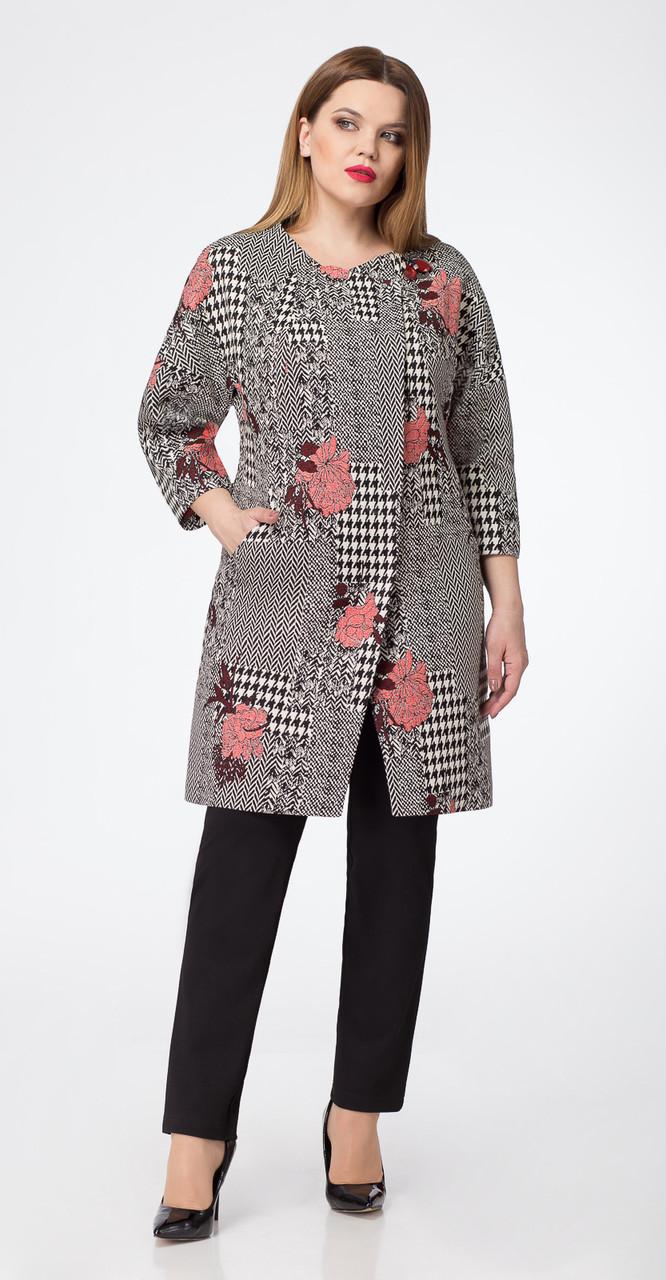 Пальто Дали-3314, серые тона, 48