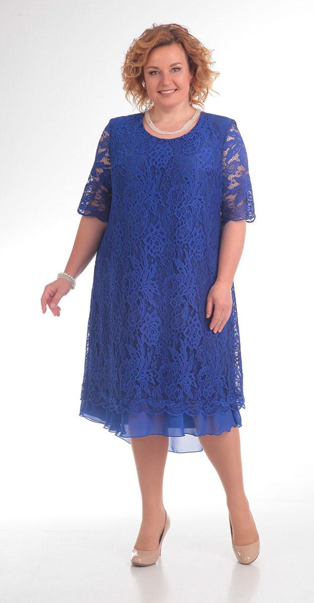 Платье Pretty-709, синий, 56