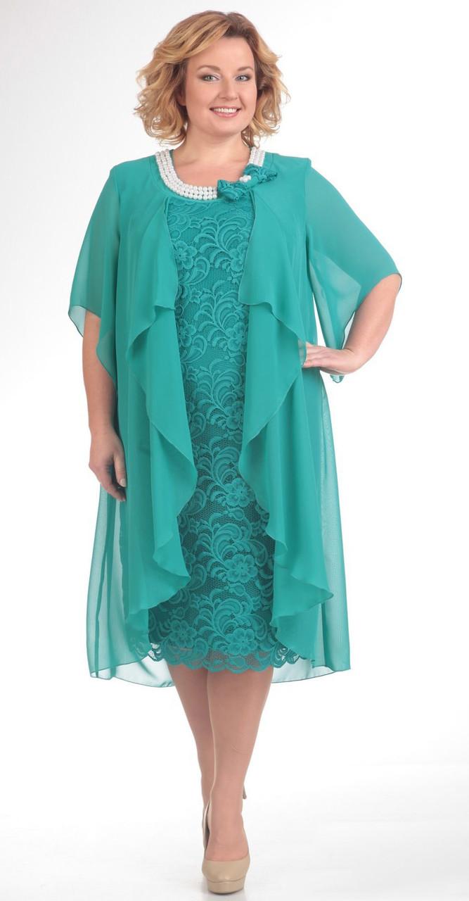 Платье Pretty-343/1, бирюза, 56