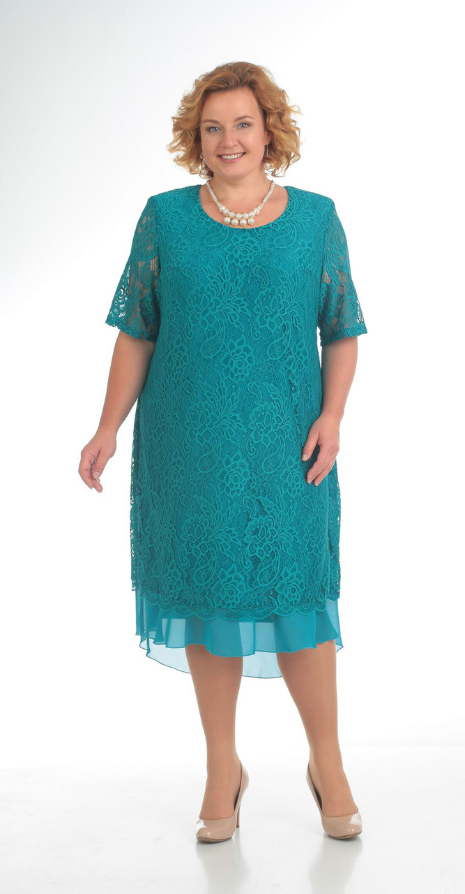 Платье Pretty-709/1, бирюза, 56