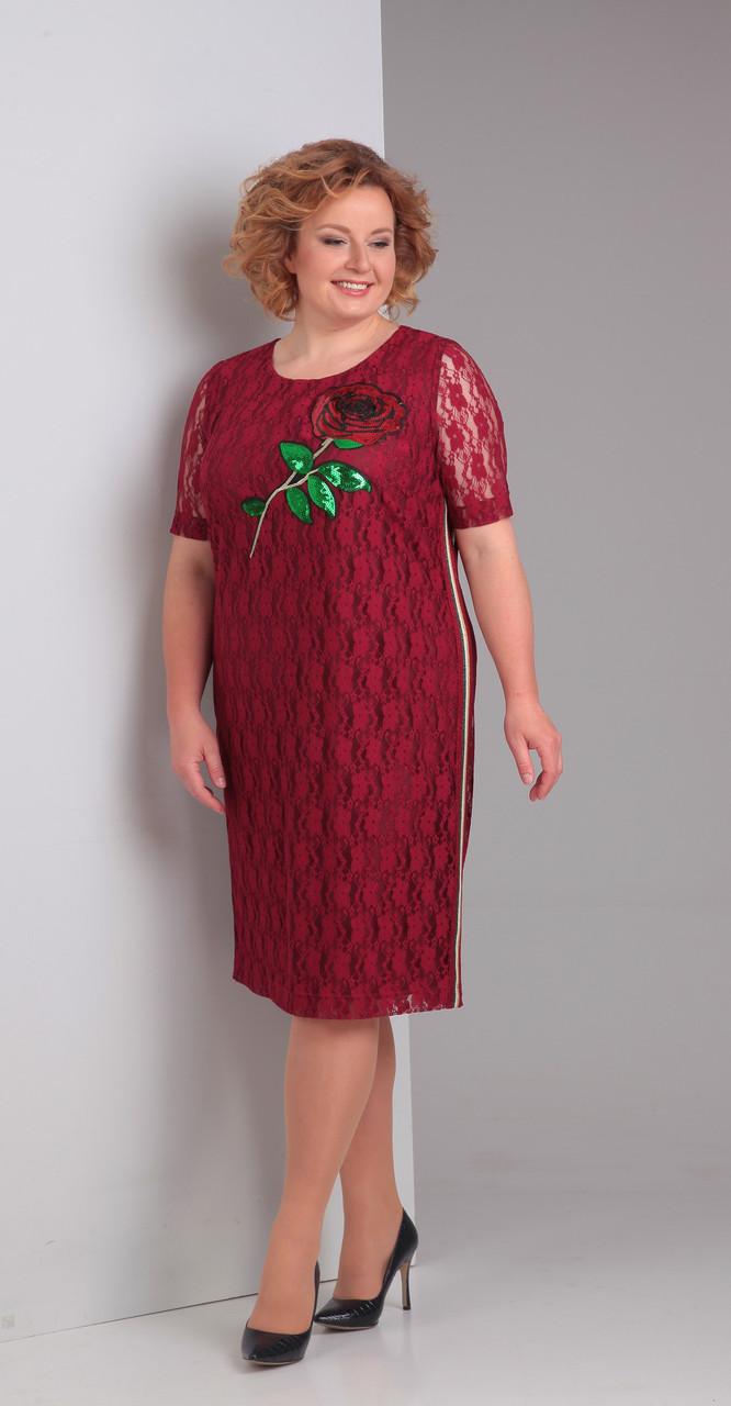 Платье Диамант-1316, красный, 52