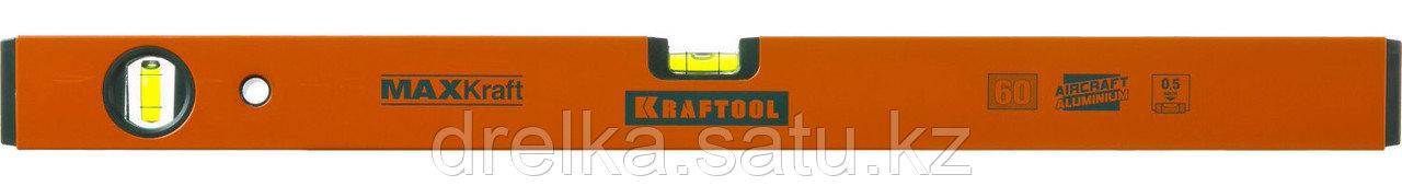 Уровень KRAFTOOL коробчатый усиленный, точность (0,5мм/м), 2 ампулы, 60 см