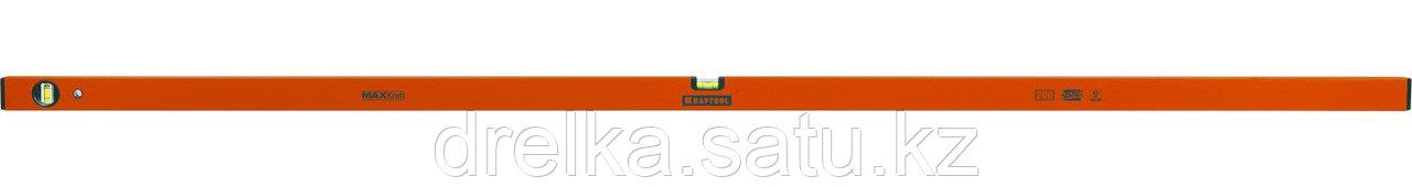 Уровень KRAFTOOL коробчатый усиленный, точность (0,5мм/м), 2 ампулы, 200 см