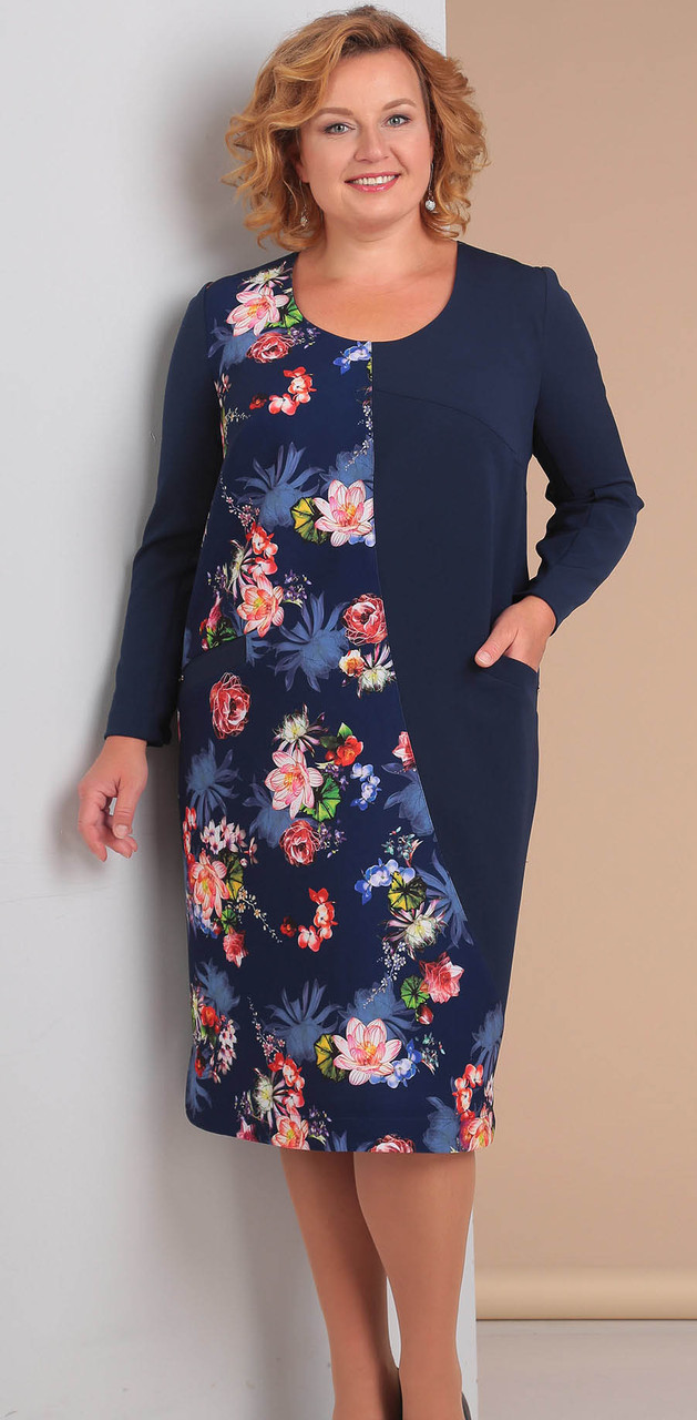 Платье Novella Sharm-3037, синие тона, 58
