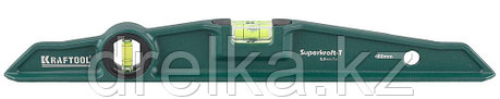 "Уровень KRAFTOOL ""SUPERKRAFT-T"" литой, 2 ампулы, 0,5 мм/м, 400 мм, фото 2"