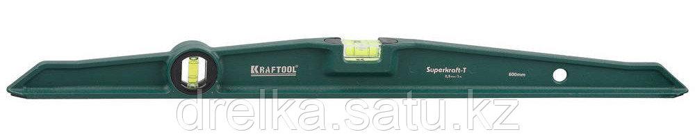 "Уровень KRAFTOOL ""SUPERKRAFT-T"" литой, 2 ампулы, 0,5 мм/м, 600 мм"
