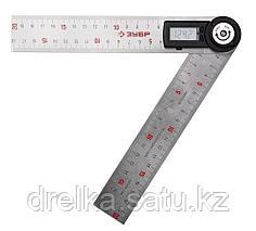 ТРУ-20 транспортир-угломер электронный, 200 мм, Диапазон 0-360°, Точность 0,3°, Фиксация угла, ЗУБР
