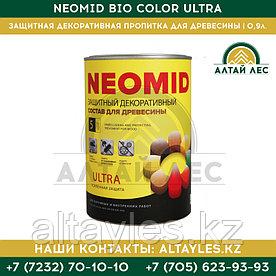 Защитная декоративная пропитка для древесины Neomid Bio Color Ultra | 0,9 л.