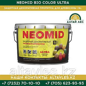 Защитная декоративная пропитка для древесины Neomid Bio Color Ultra | 9 л.